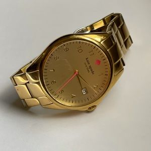 Kate spade gold and neon hot pink watch